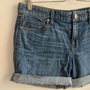 [Ann Taylor LOFT] Denim Cut Off Cuff Shorts 28/6